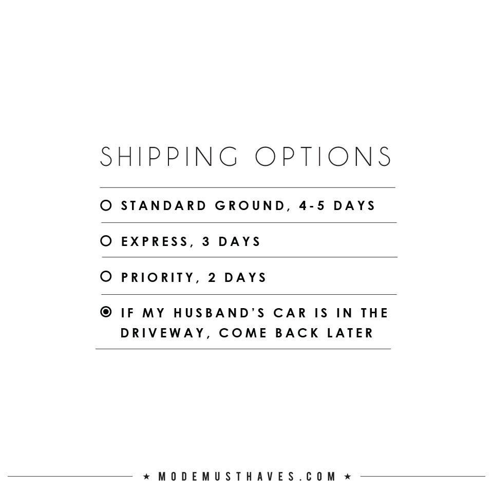 Options Quotes Shipping Options  Quotesmodemusthaves  Mmquotes