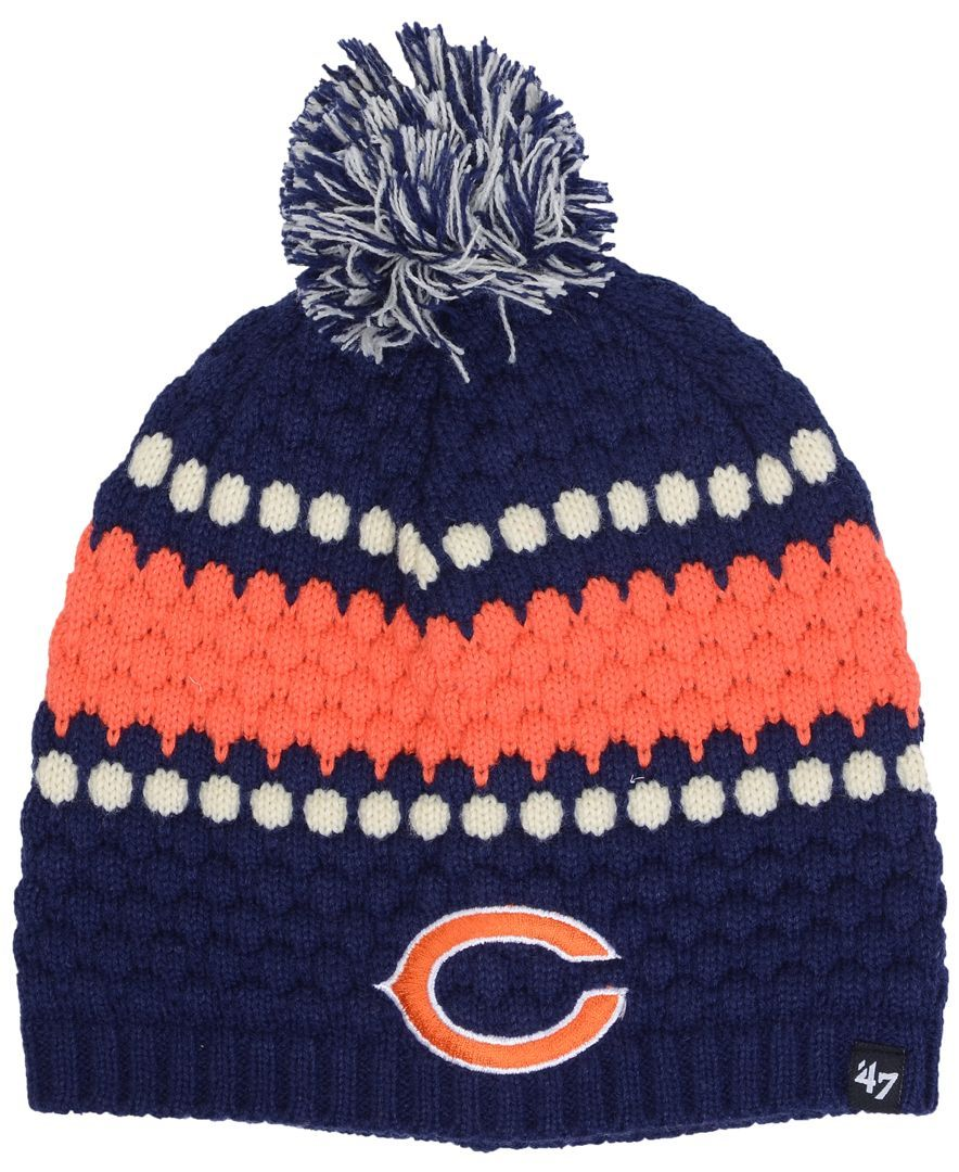 3a955cea373c9 47 Brand Women s Chicago Bears Leslie Pom Knit Hat