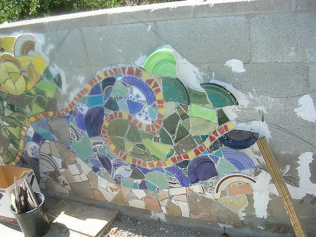 Dscn3245 Cinder Block Walls Mosaic Murals Wall Exterior