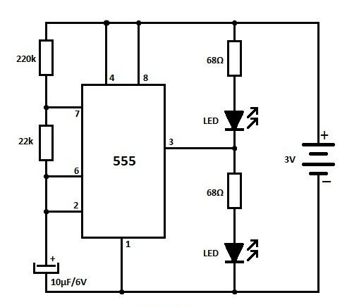 555LEDFlasher‬ circuit is an Electronic device,It is used