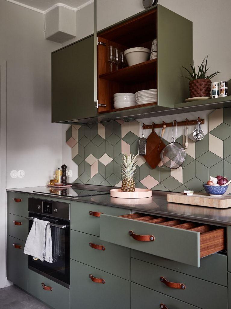 characterful kitchen in green with images scandinavian interior kitchen kitchen design on kitchen interior green id=33107