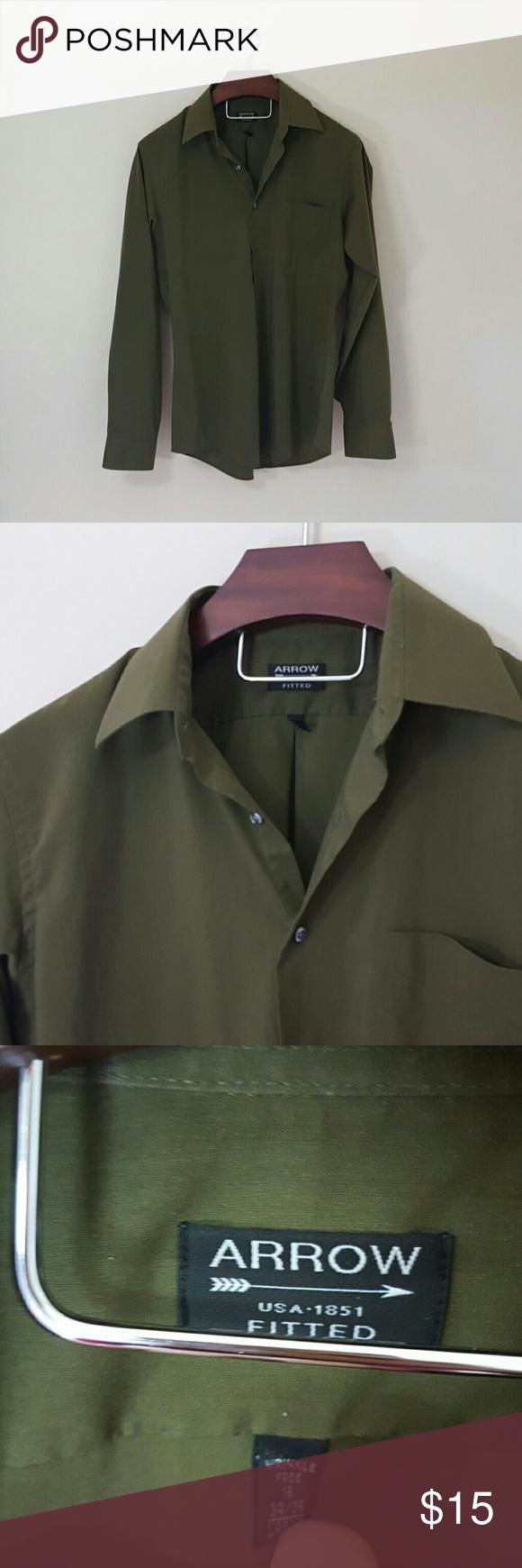 Arrow Mens Dress Shirt Size Chart