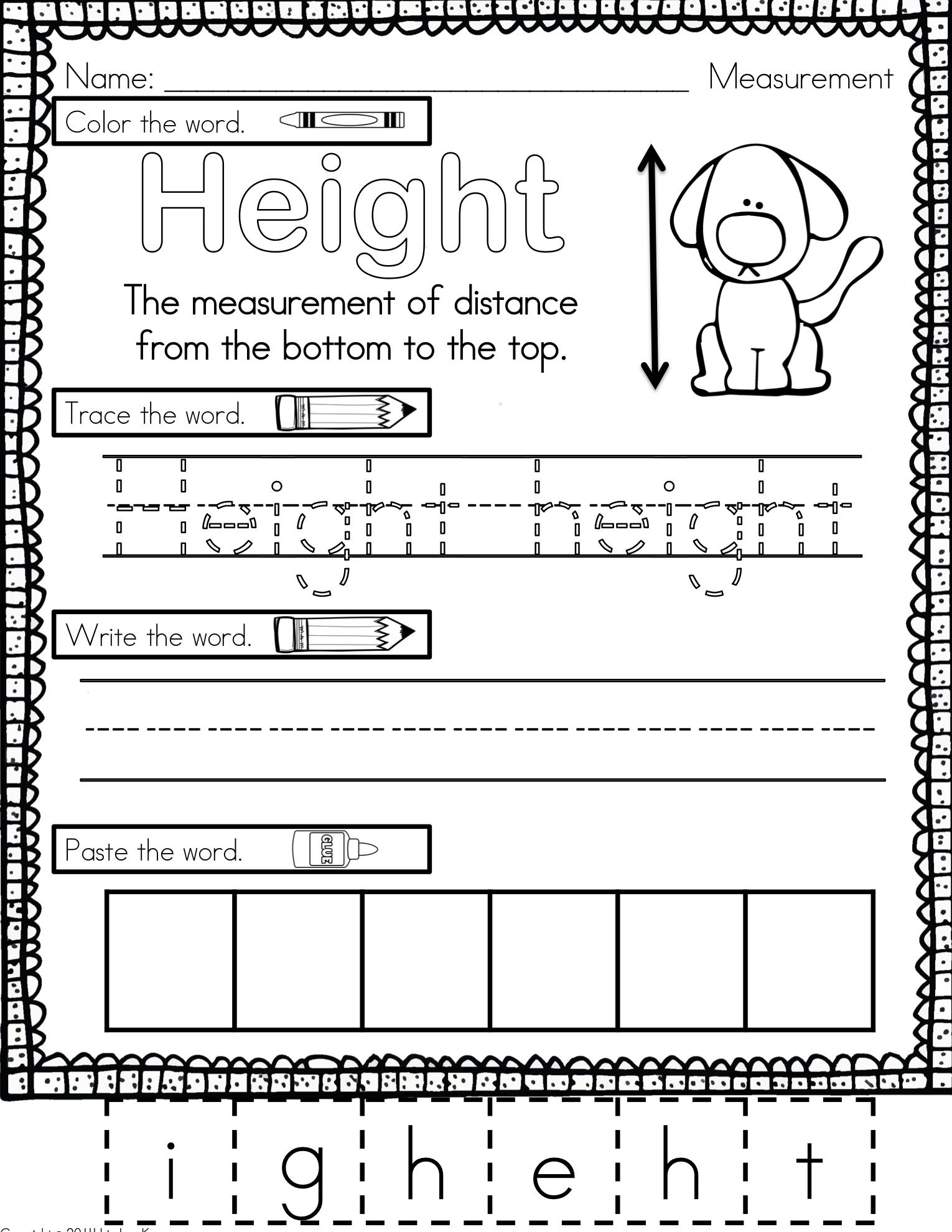 Measurement Worksheets and Activities | Math for ...