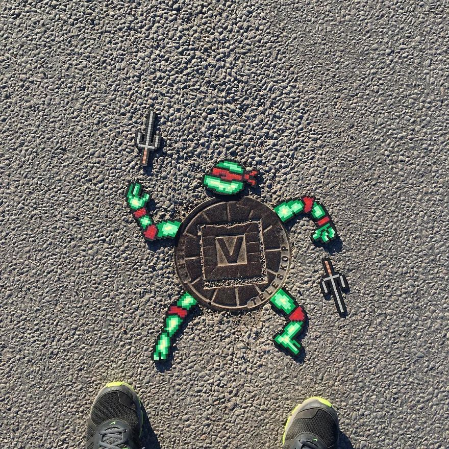 Someone Is 'Vandalising' Streets With Pixel Art, And The