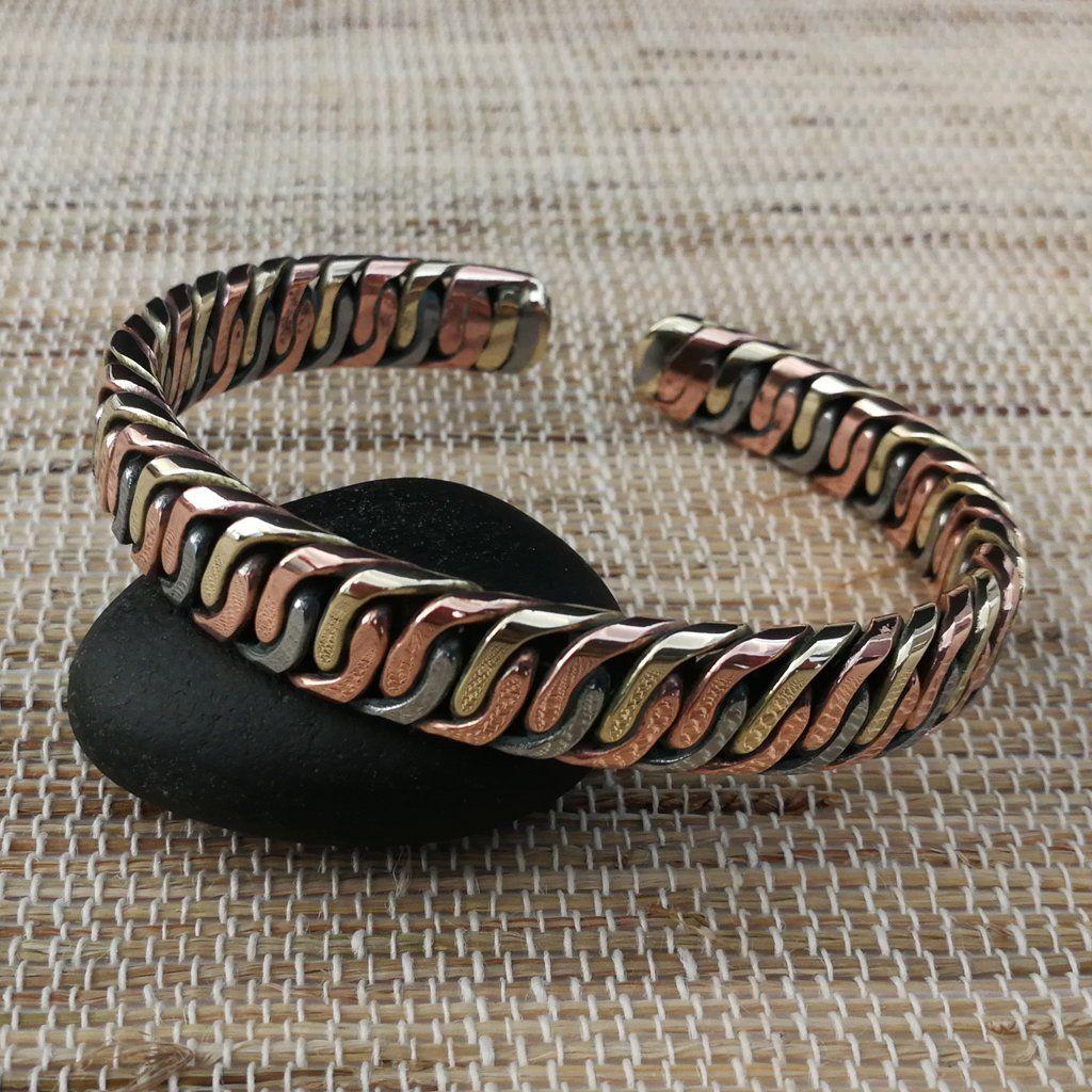 Mixed Metal Bracelet Metal Bracelets Bracelets For Men Bangle