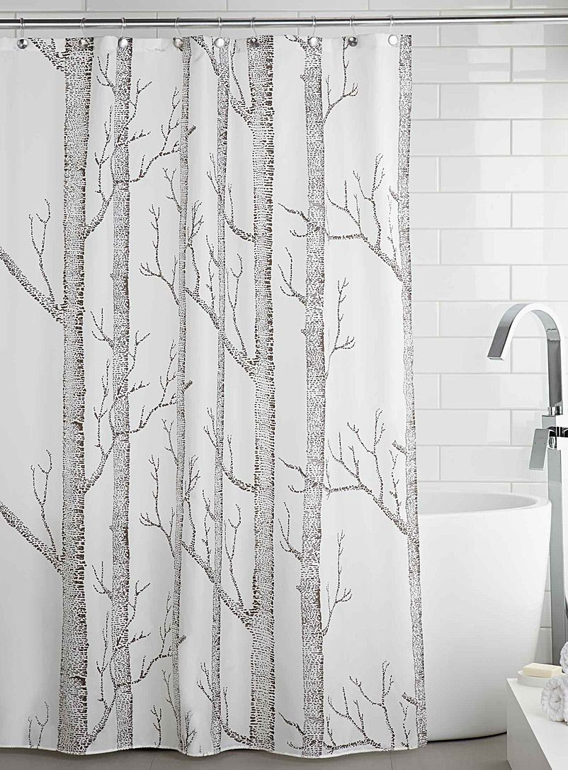 Easy Care Waterproof Fabric Anti Rust Metal Eyelets Weighted Bottom Seam 180 X Cm Product Tree Shower Curtains