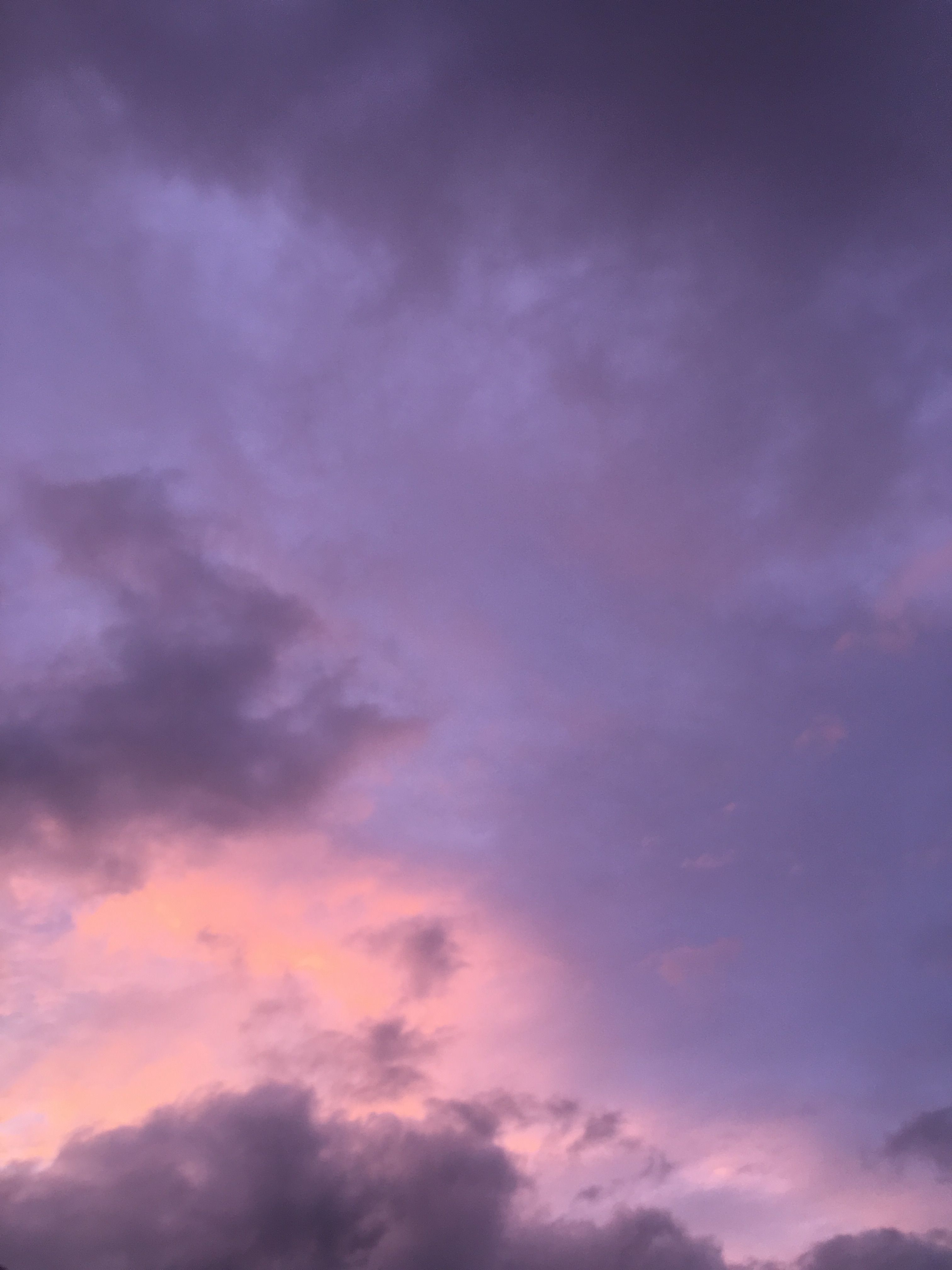 Sunset Sky Lilac Sky Violet Aesthetic Purple Sky