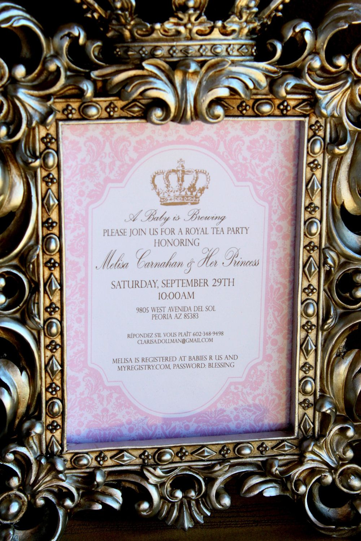 ROYAL TEA Party - INVITATION - Girls Birthday - Baby Shower - Bridal ...