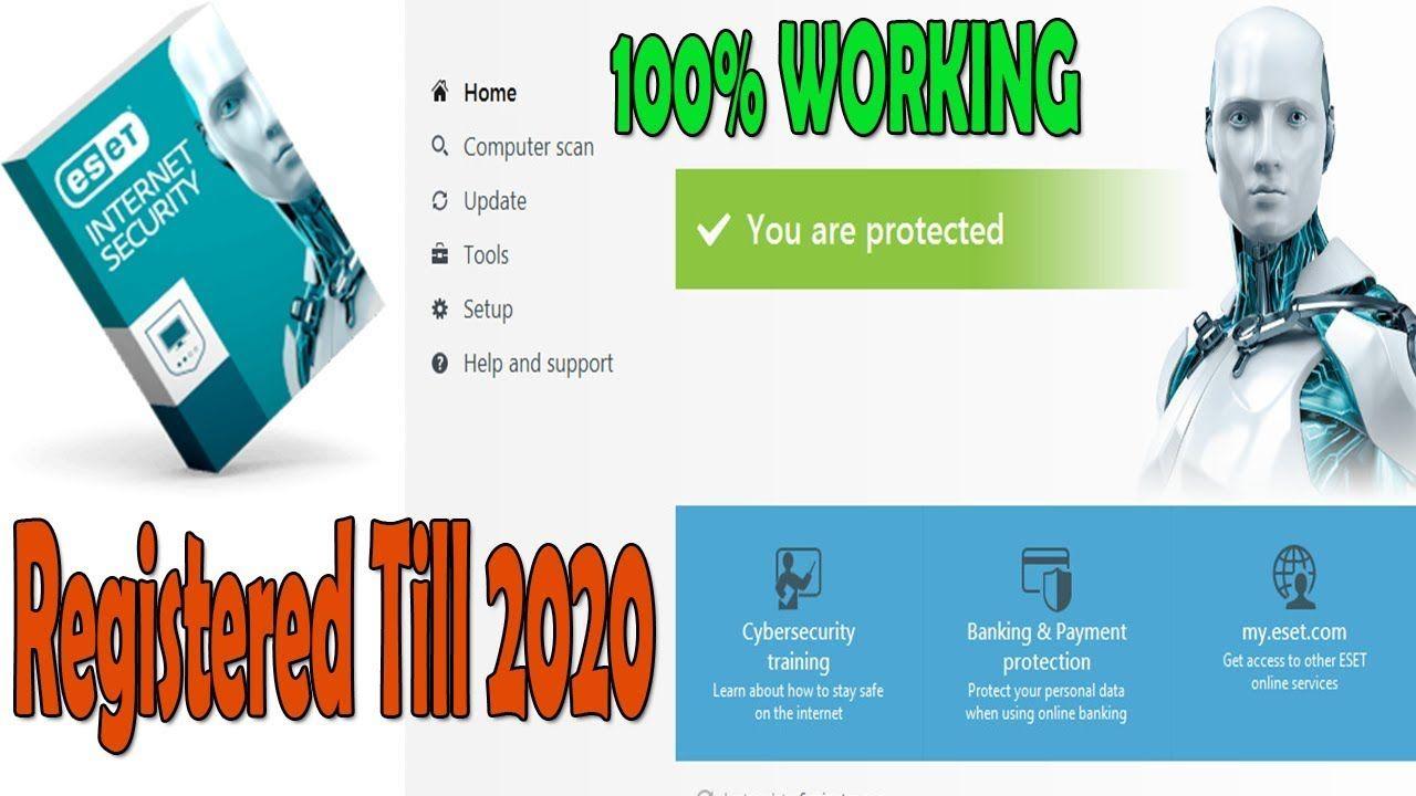 Free Eset Nod32 Antivirus 11 License Key 2020 Working 100 How Eset In Towanda Cybersecurity Training Youtube