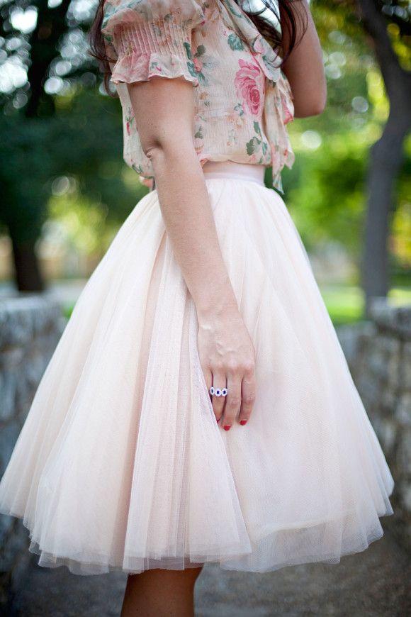 Shortened Watters Ahsan Tulle Skirt - Dallas Wardrobe