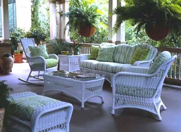 Victorian Wicker Furniture For Garden Porch And Patio