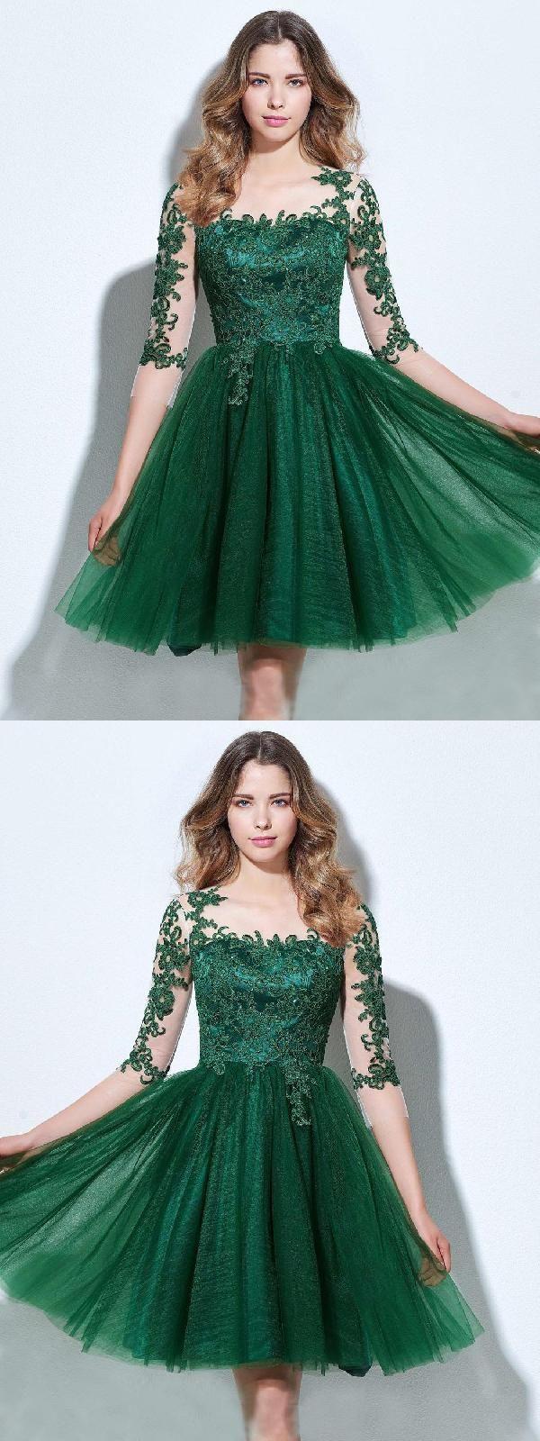 Aline green short amy homecoming dresses