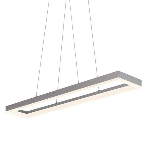 Corona 43 inch rectangular led pendant light dining table corona 43 inch rectangular led pendant light mozeypictures Images