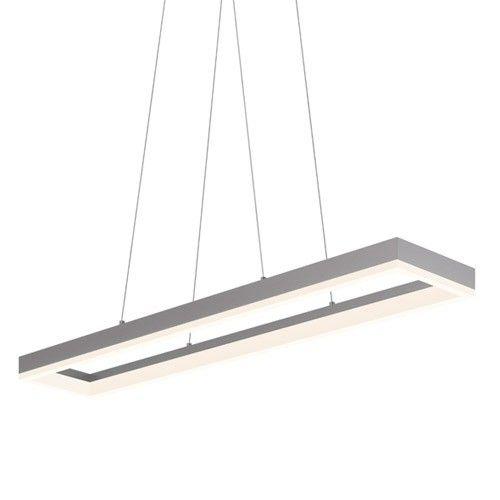 Corona 43 Inch Rectangular LED Pendant Light – Rectangular Pendant Chandelier