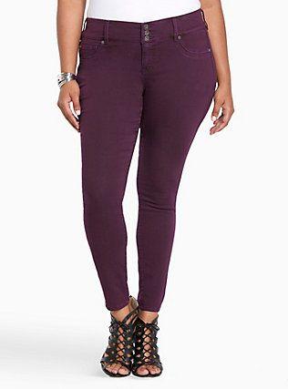 Plus Size Torrid Jeggings - Dark Purple Wash, POTENT PURPLE | Work ...