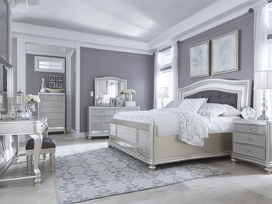check out the deal on coralayne silver queen bedroom set at rothman furniture