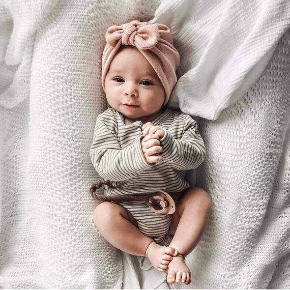 Photo of Erröten Strickmütze: (Pullover) w / Top Knot – Baby Turban, Winter Baby Mütze, warmes Baby …..