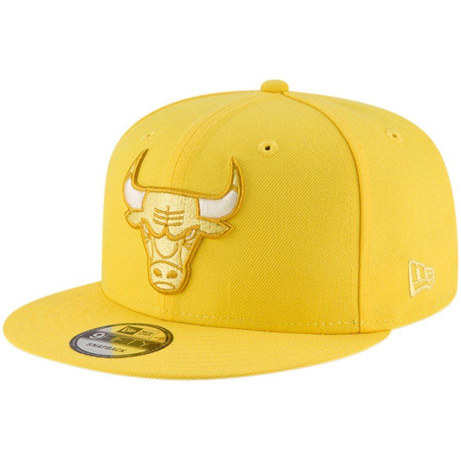2af44635d91 Men s Chicago Bulls New Era Yellow League Pop 9FIFTY Adjustable Hat ...