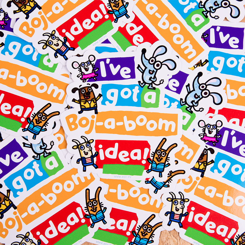 we made awesome stickers for boj as seen on cbeebies everyone