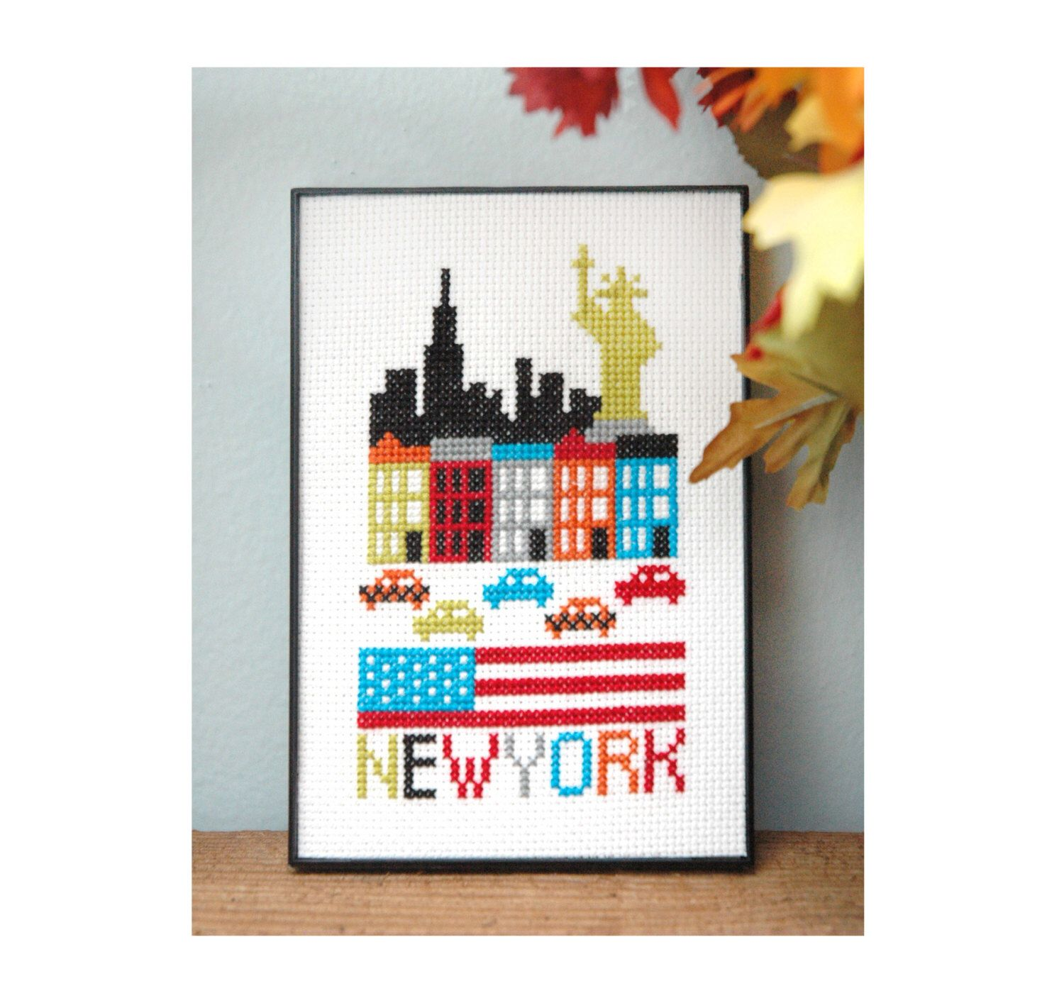 New York Cross Stitch Pattern Instant Download by tinymodernist on Etsy https://www.etsy.com/listing/156540615/new-york-cross-stitch-pattern-instant