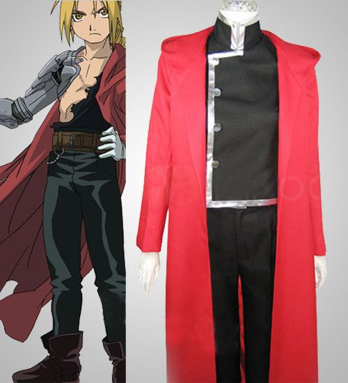 Alchemist Edward Elric Fullmetal Alchemist Cosplay Boy s Halloween Costume  Discount For Sale