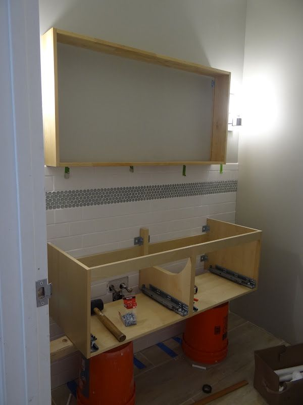 diy bathroom cabinets one project at a time diy 69 all for vanity 14874