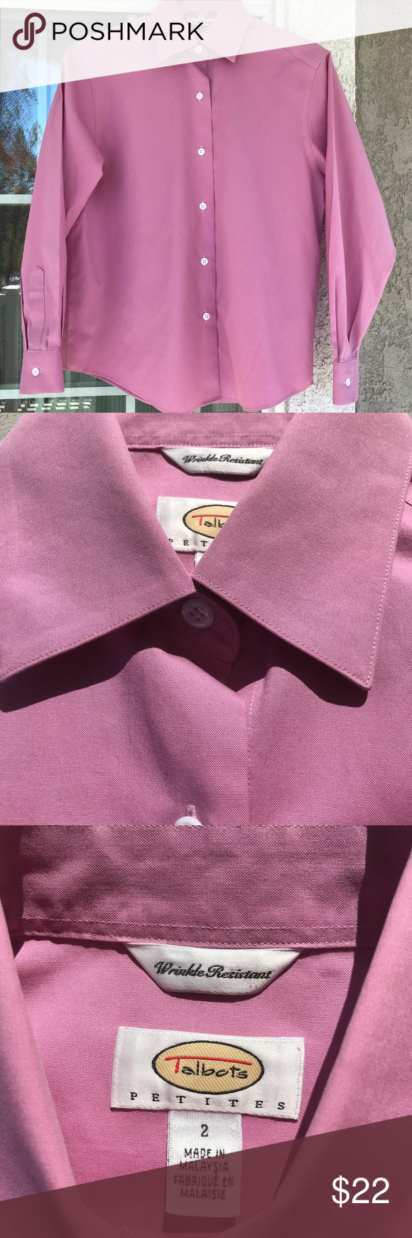 Talbots Petite Size 2p Pink L S B D Talbots Petite Size 2p Pink Long Sleeve Button Down No Rips Stains Or Tears Extra Manu Petite Size Talbots Clothes Design