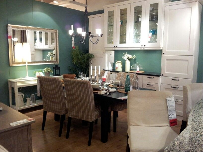Ikea Dining Room  Love The Buffet  Ikea Hacks  Pinterest  Ikea Inspiration Ikea Glass Dining Room Table Decorating Inspiration