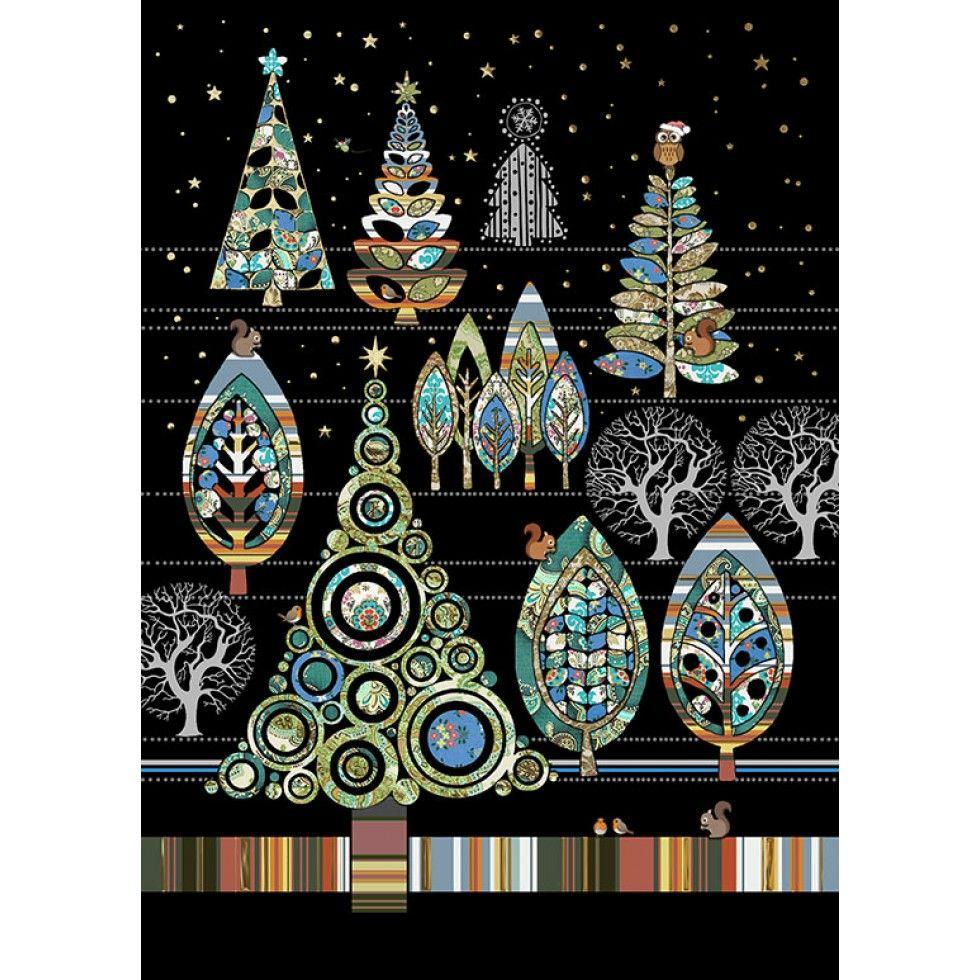Forêt de Noël / Christmas Forest. Noël, Carte de Souhait, Idée