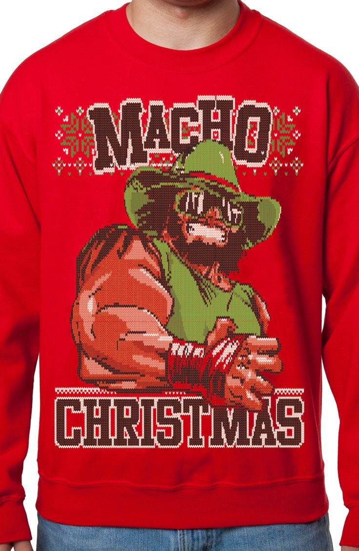 Macho Man Ugly Christmas Sweater New Mens T Shirts From 80stees