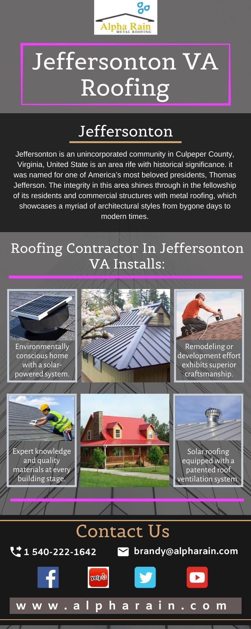 Alpha Rain An Expert Roofing Contractor In Jeffersonton Va In 2020 Metal Roofing Contractors Roofing Metal Roof