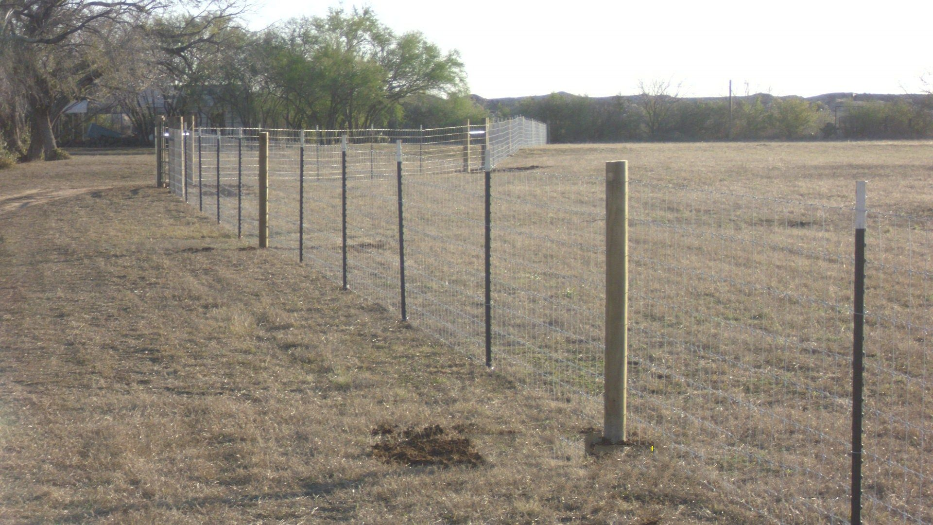 Field Fencing Horse Pasture No Barb Wire Bexar County Also Close Up ...