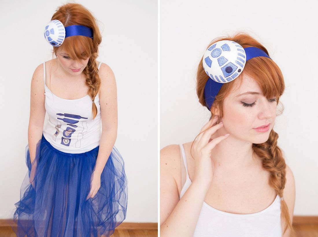 This easy r2d2 costume is the cutest star wars costume ever r2d2 use this tutorial to diy an r2d2 costume for halloween solutioingenieria Image collections