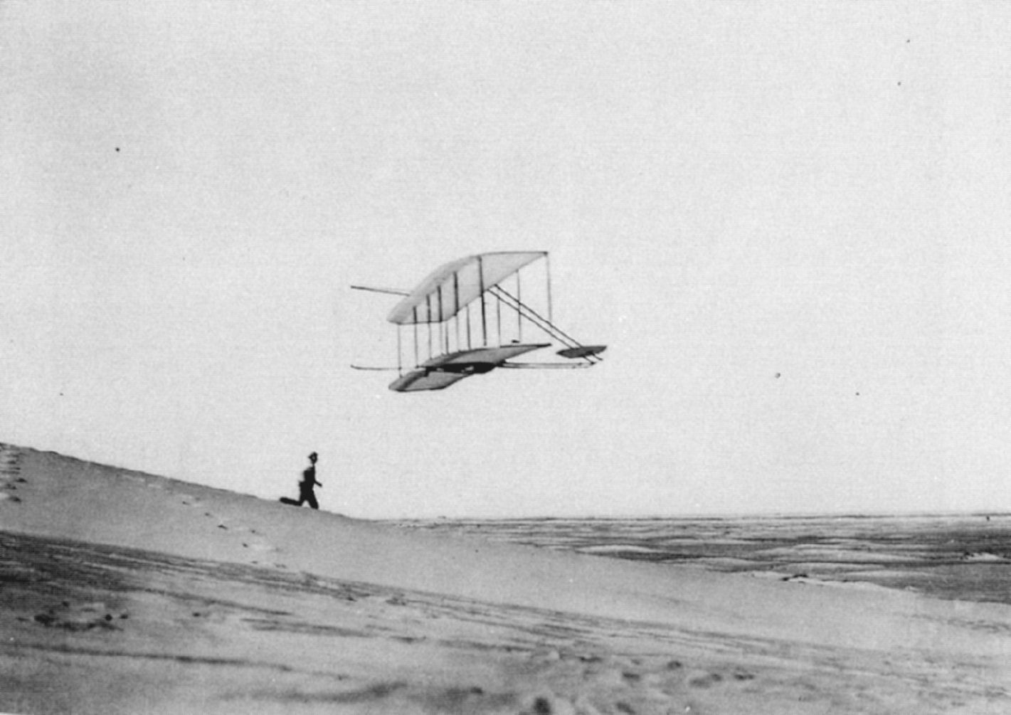 Wright Brothers First Flight 1901 The Wrights fly