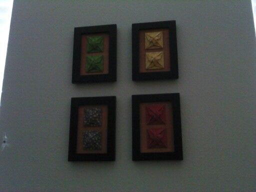 Framed braided origami