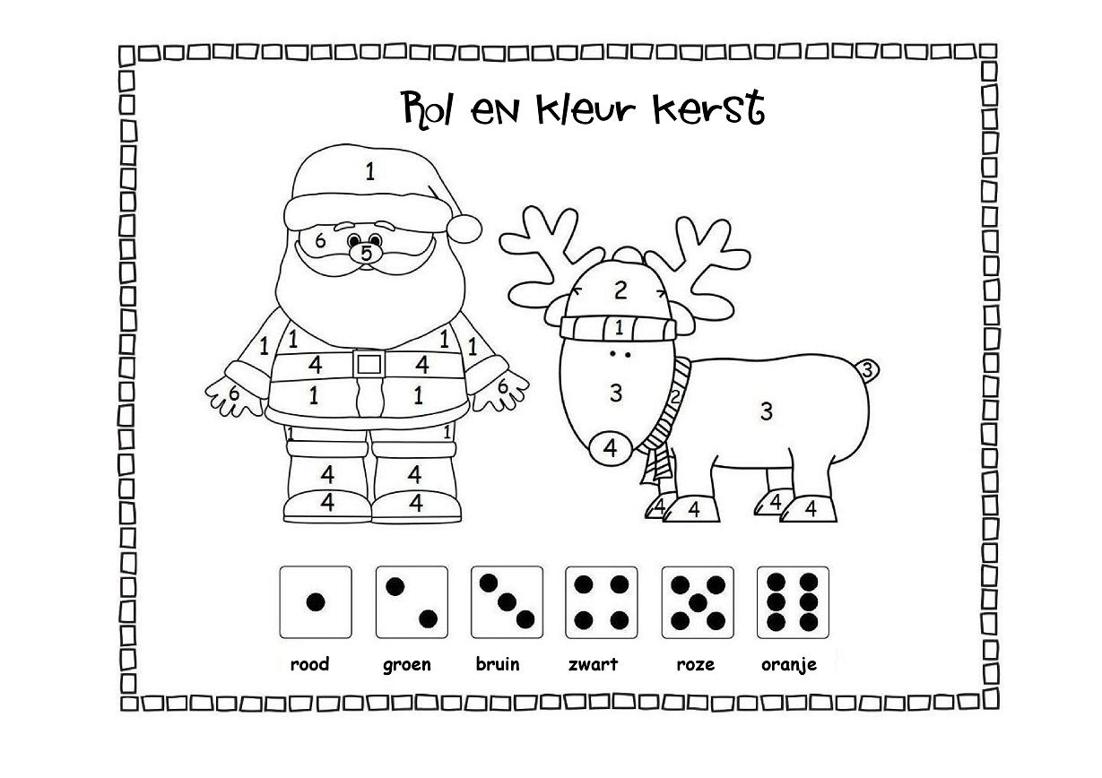 per 4 kinderen rol en kleur wie heeft als eerste
