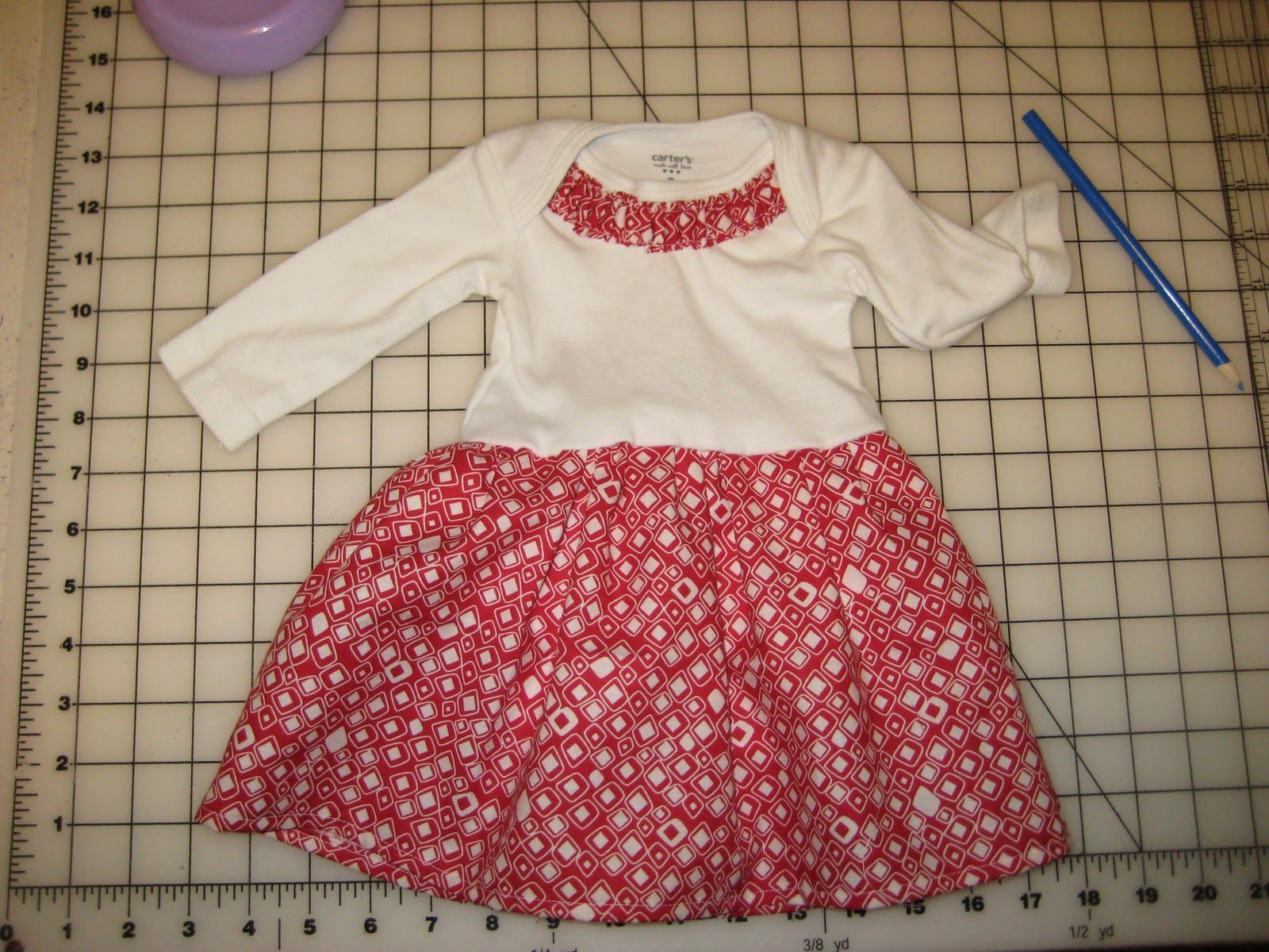 2546a14b3 Fat Quarter Friday  Onesie Dress with Embellishment
