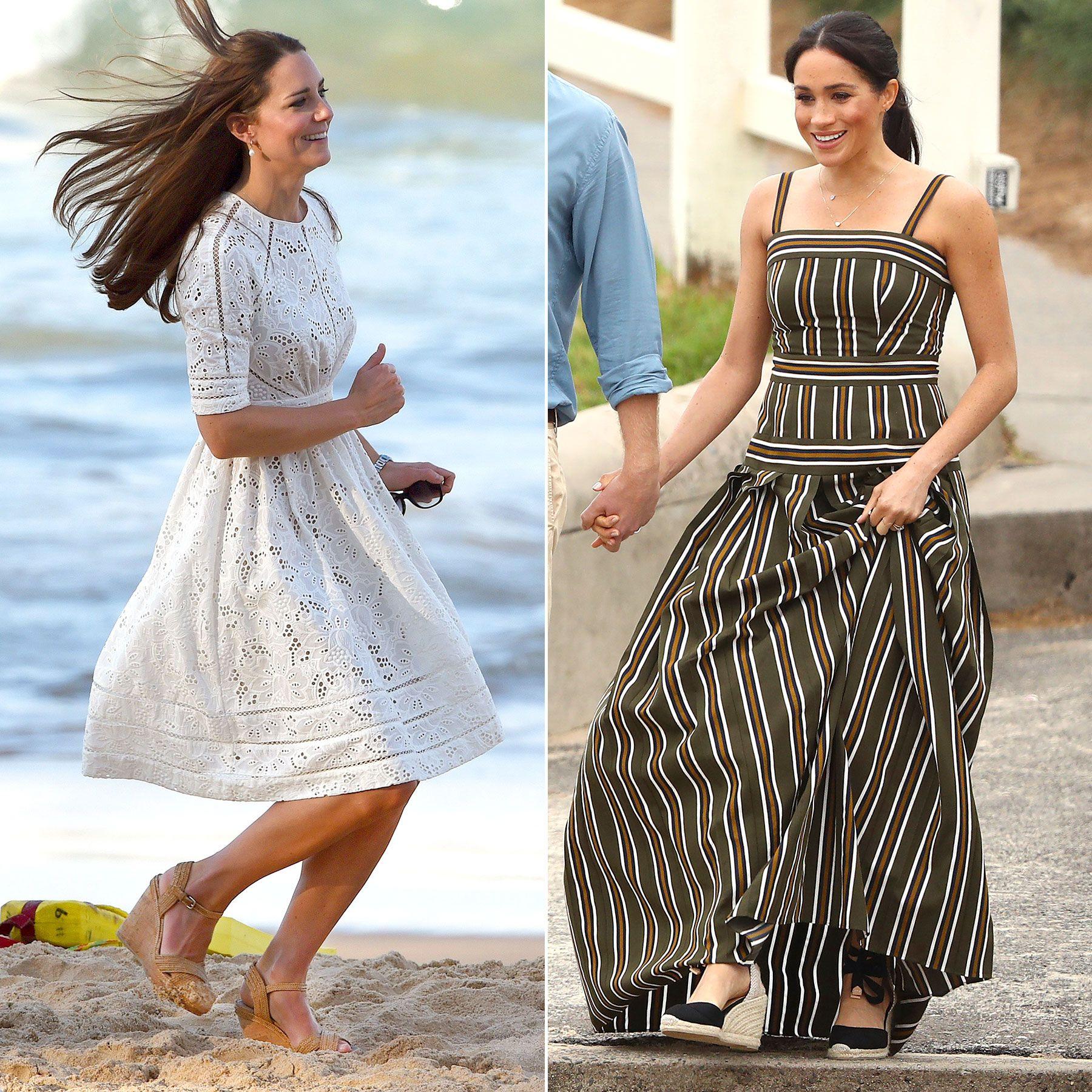 Meghan Markle Channels Kate Middleton's Australian Beach