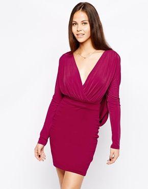 1f6f6e3ea3 Hedonia Gabby Wrap Front Pencil Dress - Wine