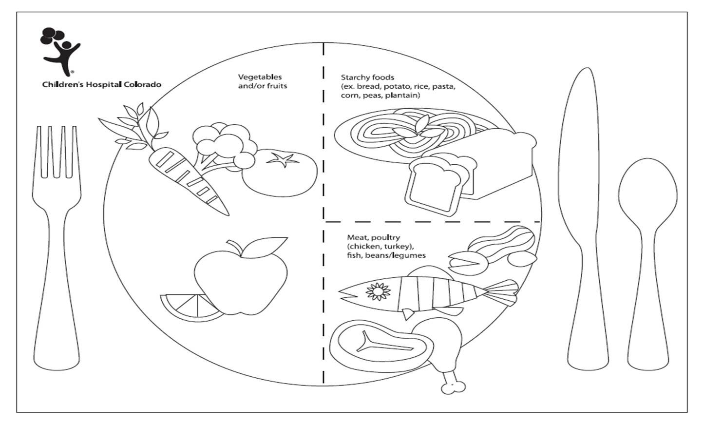 Print Out This Coloring Placemat To Teach Your Kiddos