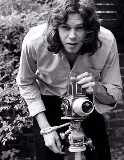 Nick Drake with a Hassellad. Image credit: Celebrity Camera Club