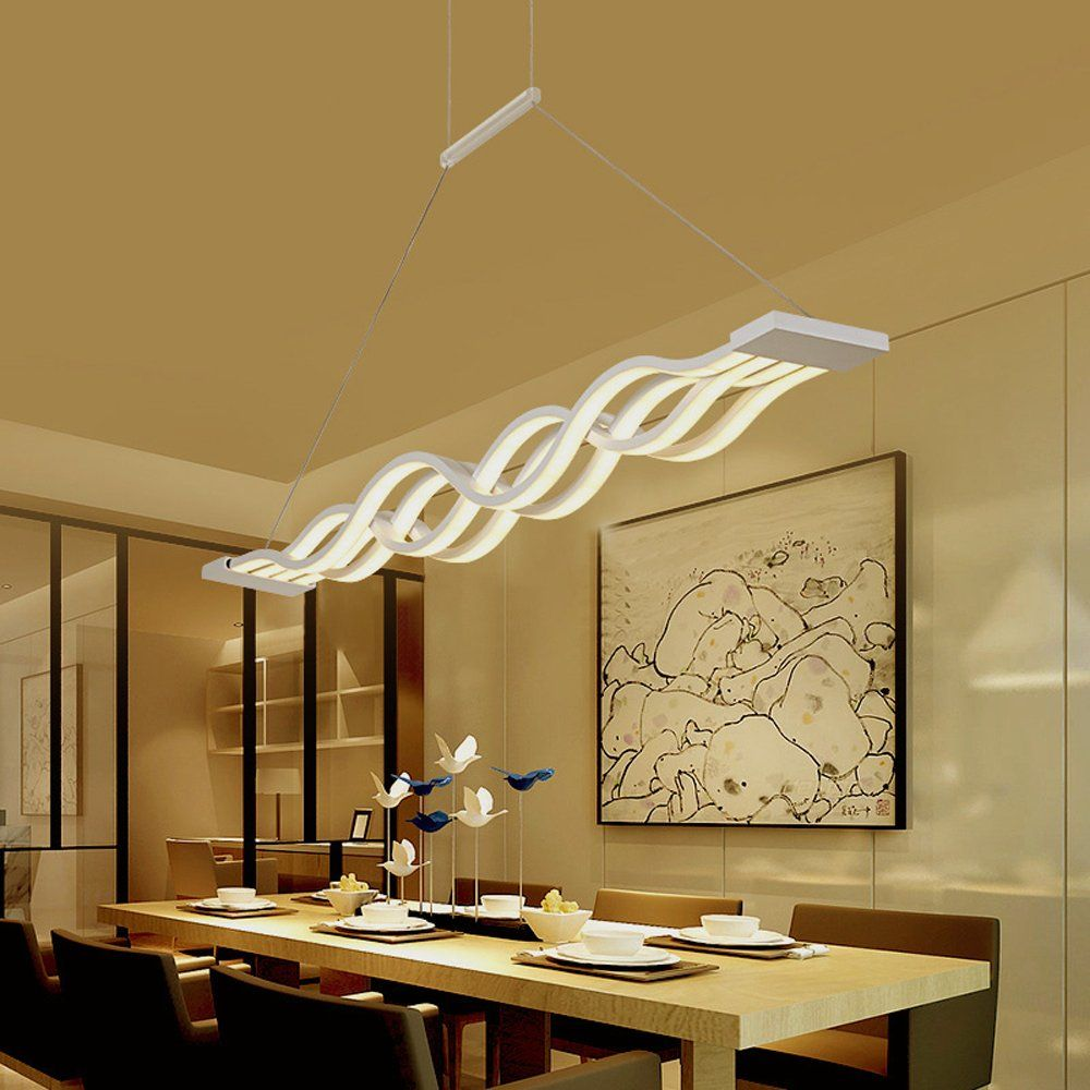 Create For Life Modern Wave Led Pendant Light Fixture Island
