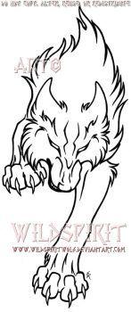 Fierce Running Wolf Tattoo By Wildspiritwolf Wolf Tat Info