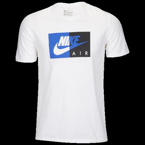 Nike Dual Block TShirt White / Royal Black Nike