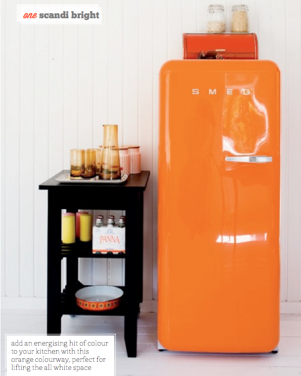 Scandi bright! SMEG fridge (Bo Bedre)