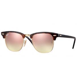6b366c9944 Ray Ban Clubmaster Flash Lenses Gradient RB3016 sunglasses – Tortoise Frame    Copper Gradient Flash Lens