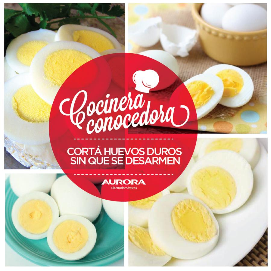 #CocineraConocedora Para cortar los huevos duros en tiras finas utilizá un cuchillo mojado con agua bien fría. Si eso no funciona, aplicá un poco de aceite en el borde de cuchillo.
