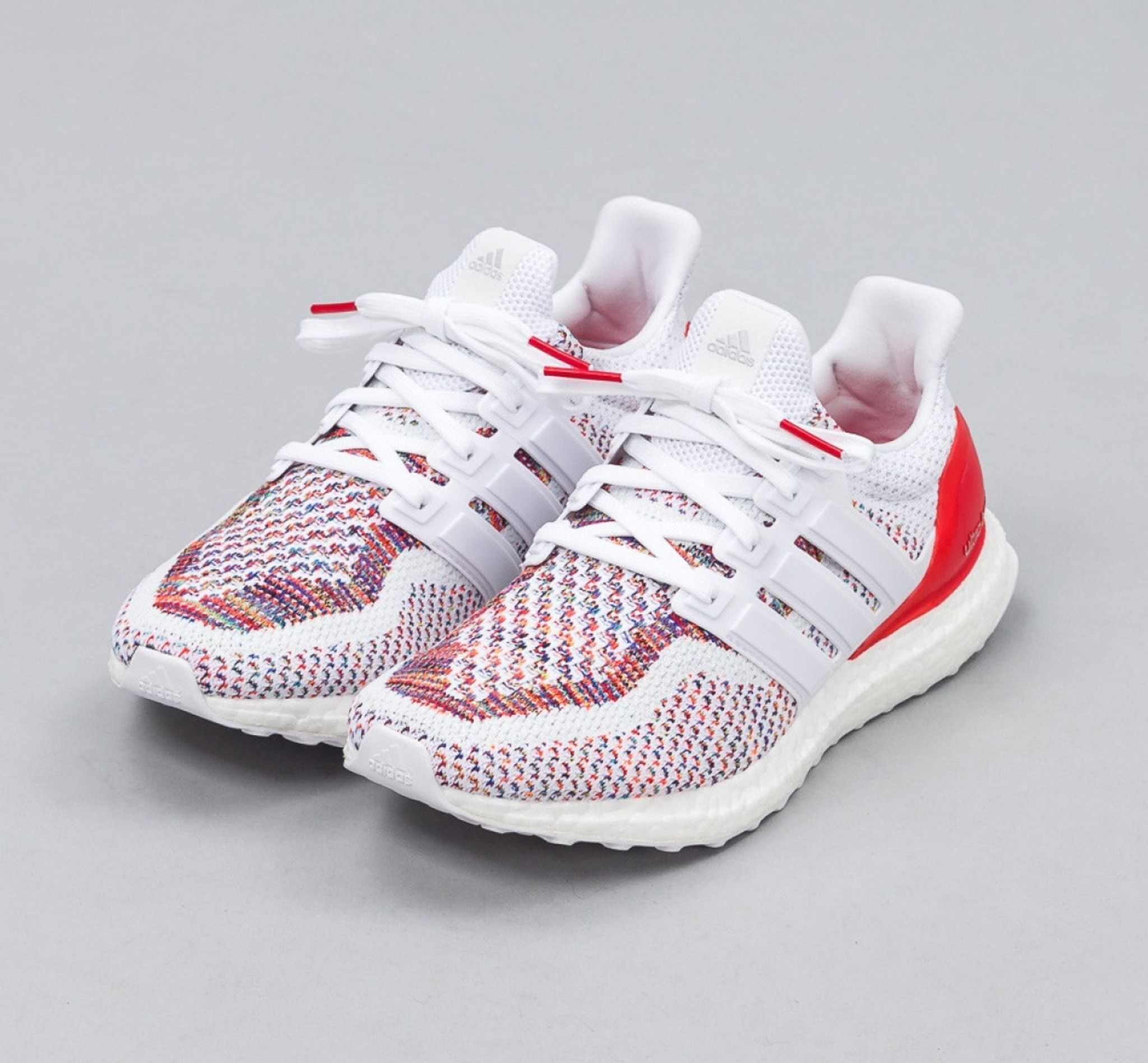 1e8e1f1b63ed63 Adidas Ultra Boost M Multi Color 2.0 Size Red White Multicolor BB3911  Ultraboost