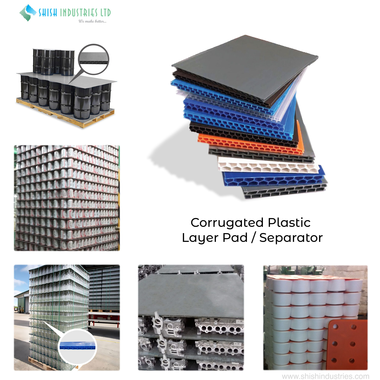 Corrugated Plastic Layer Pad Separator Corrugated Plastic Reflective Insulation Corrugated Sheets