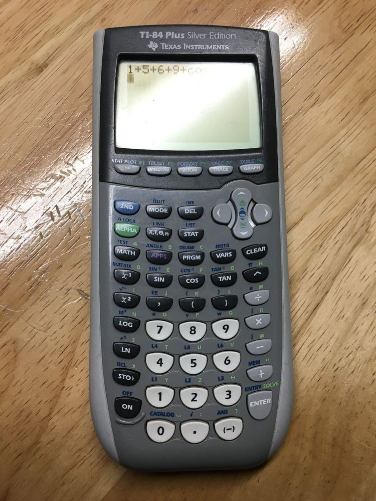 Texas Instruments TI 84 Plus Silver Edition Calculator TexasInstruments